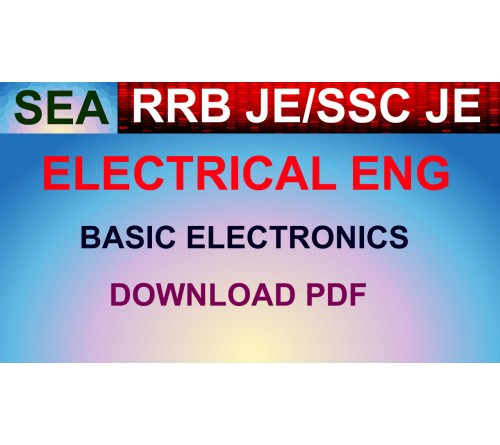 RRB JE CBT 2 ELECTRICAL/SSC JE - BASIC ELECTRONICS PDF