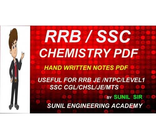 RRB NTPC GENERAL SCIENCE CHEMISTRY NOTES PDF/ SSC GENERAL